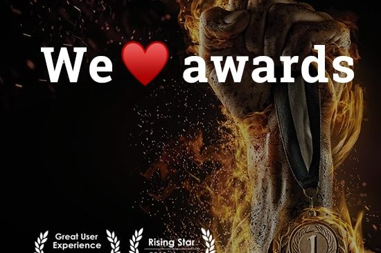 We love winning awards | Great User Experience | Rising Star